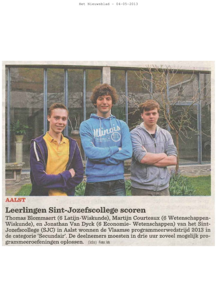 2013-05-04 - Nieuwsblad-1